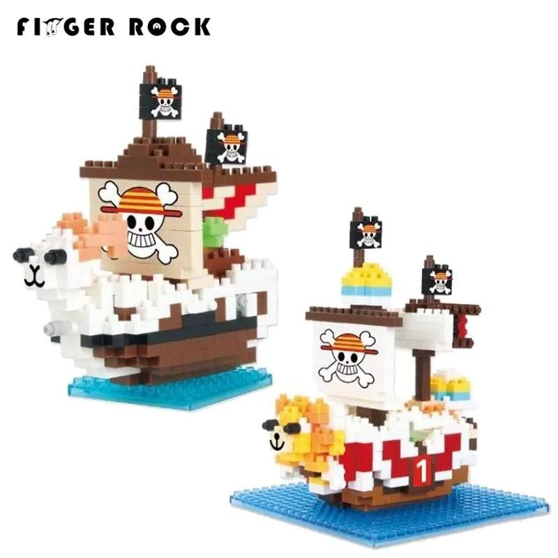 ONE PIECE Pirate Ship Going Merry and Thousand Sunny chariot QCF building blocks model toys Present gift for boy