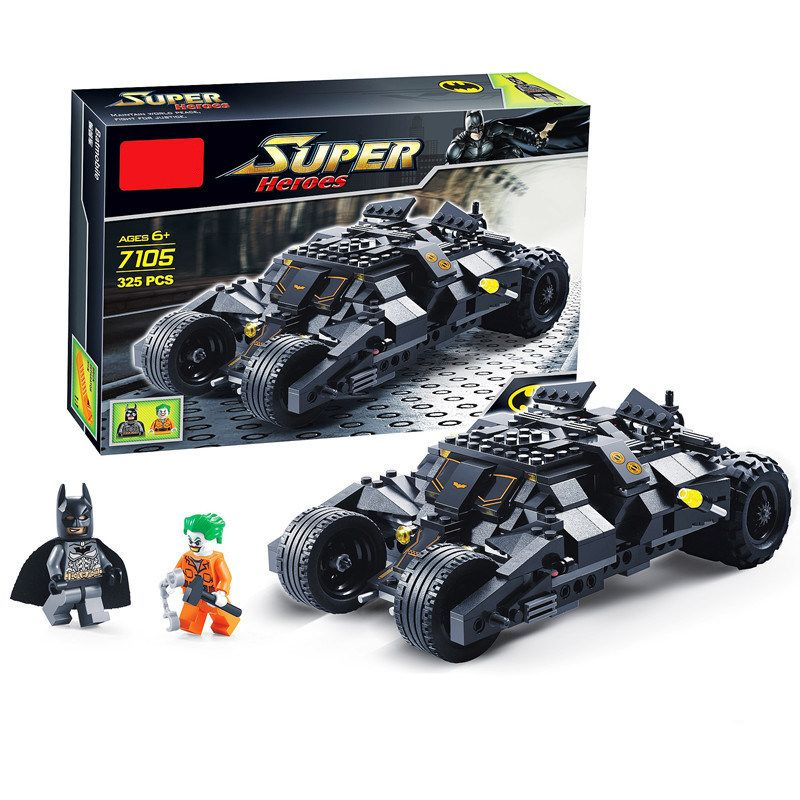 [Bainily]Super Heroe Batman Race Truck Car Model Technic Building Block SetS DIY Toys Compatible With LegoINGly Batman