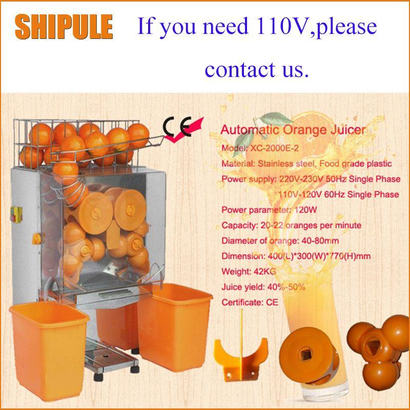 SHIPULE freies verschiffen 220 v elektrische automatische orange entsafter handels frische orange entsafter maschine