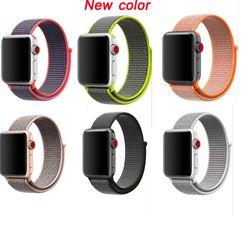 Seri 5/4/3/2/1 Sport Loop Tali untuk Apple Watch Band Nylon Anyaman Gelang untuk saya Jam Tangan Gelang 38 Mm 42 Mm 40 Mm 44 Mm