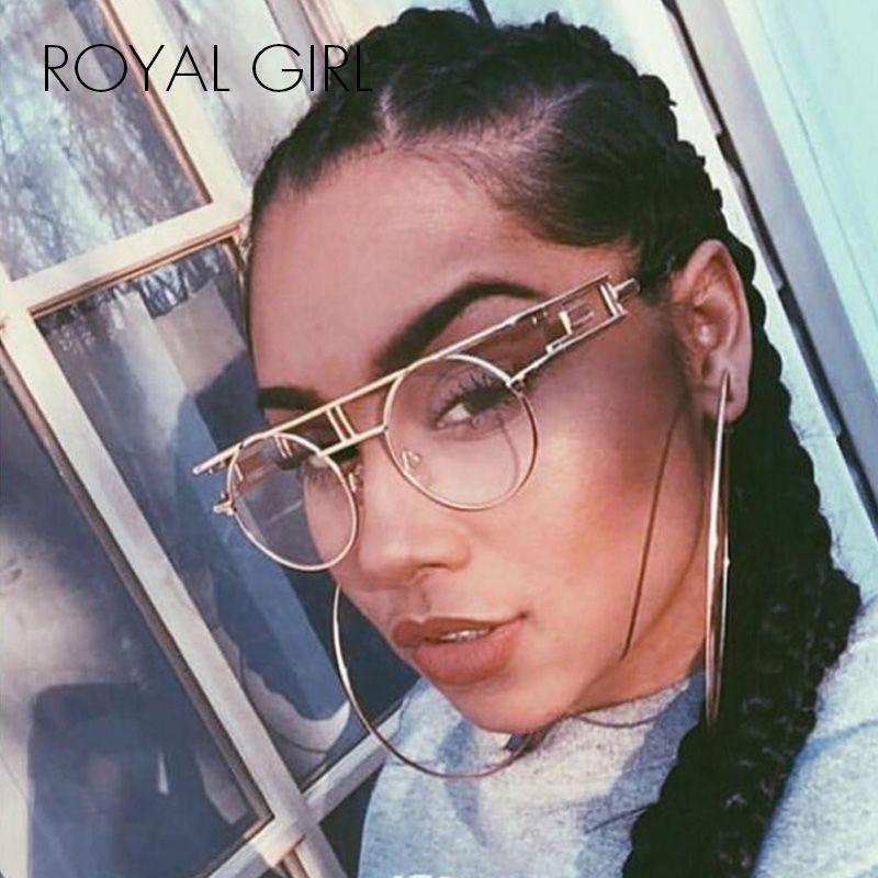 ROYAL FILLE Qualité Métal Cadre Steampunk lunettes de Soleil Femmes Marque Designer Ronde Hommes Gothique lunettes de Soleil Vintage Lunettes ss211
