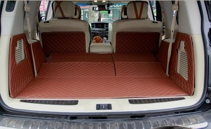 Good mats! Special trunk mats for Infiniti QX80 7seats 2017-2013 waterproof cargo liner boot carpets for QX80 2014,Free shipping