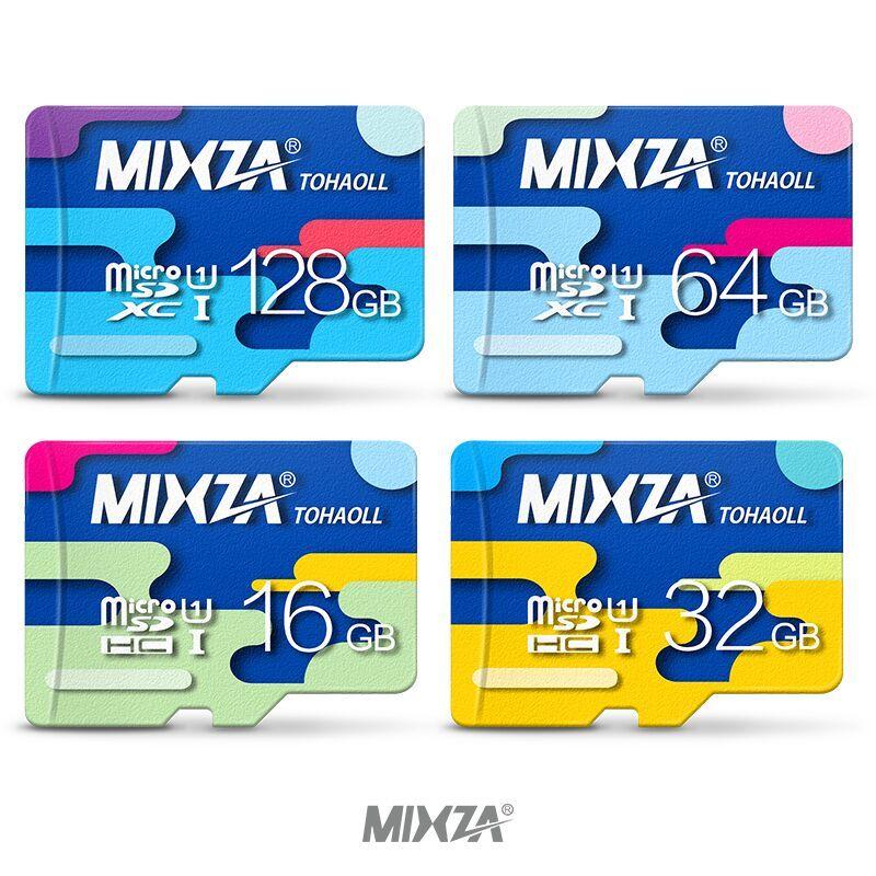 MIXZA Carte Mémoire 64 GB 32 GB Micro sd carte Class10 UHS-1 flash carte Mémoire Microsd TF/SD Cartes pour Smartphone/Tablet
