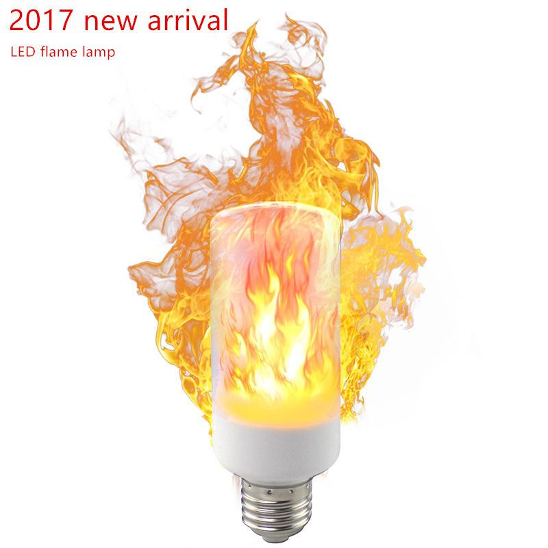 2017 New arrival E27 E14 Led Flame Lamps LED Flame Effect Light Bulb 85~265V Flickering Emulation Fire Lights 9W Decorative Lamp