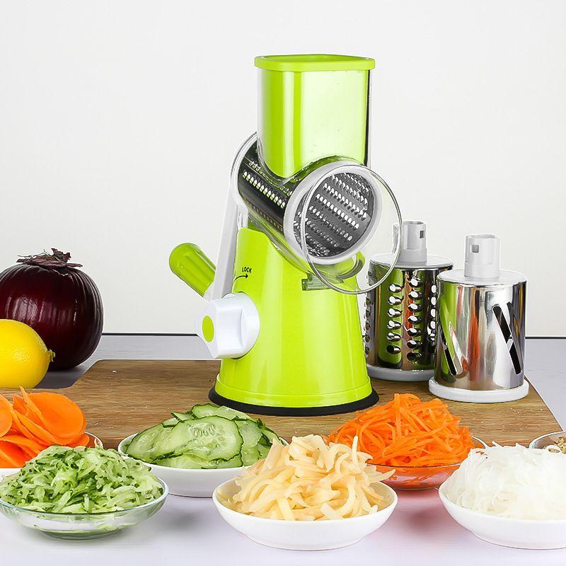 Râpe à carottes coupe légumes ronde Mandoline trancheuse râpe pour pommes de terre Julienne inoxydable accessoires de cuisine Gadgets
