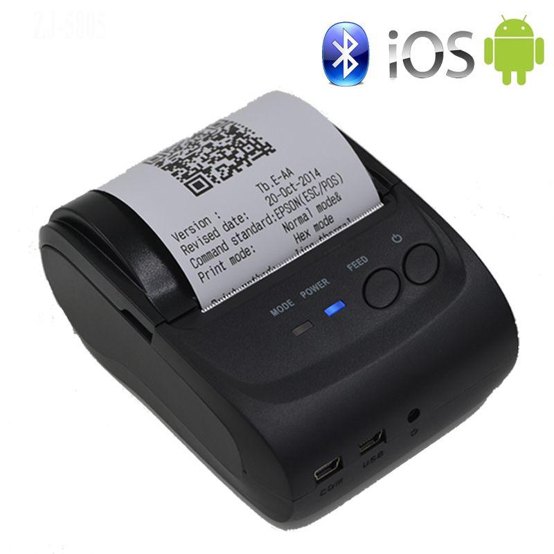 Imprimante sans fil de Bluetooth d'imprimante Mobile portative de 58mm Mini imprimante thermique prenant en charge Android + IOS