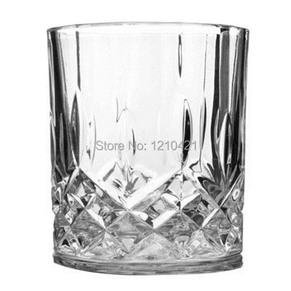 1pcs Free shipping 240ml Diamond flat classical cup Classical whiskey glass glass beer mug cup