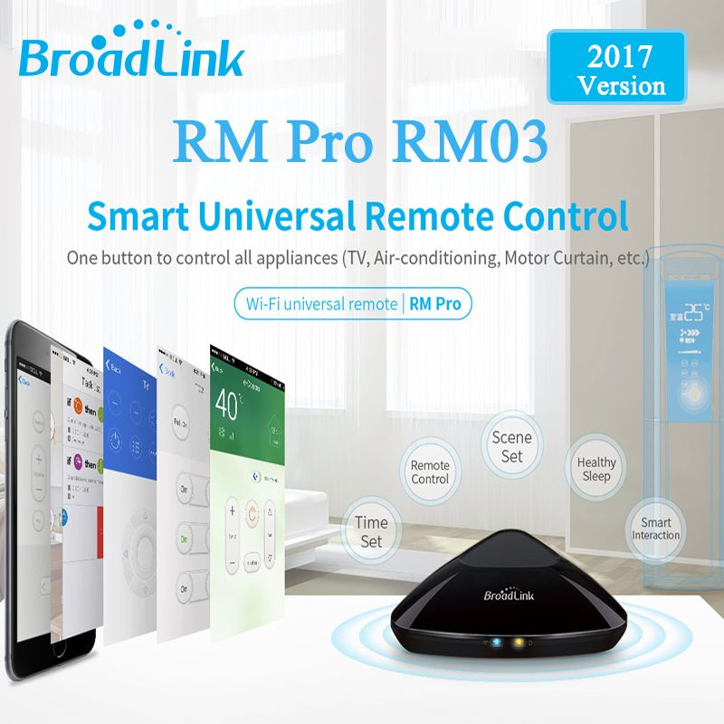 2017 Broadlink RM03 RM PRO Universal Intelligent Remote Controller Smart Home Automation WiFi+IR+RF Switch Via IOS Android Phone