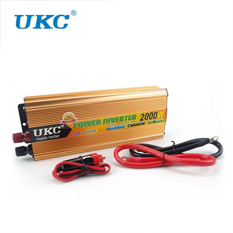 2000W Car Modified Sine Wave Power Inverter Converter Charger Car DC 12V to AC 220v Converter + USB With Car Cigarette Lighter
