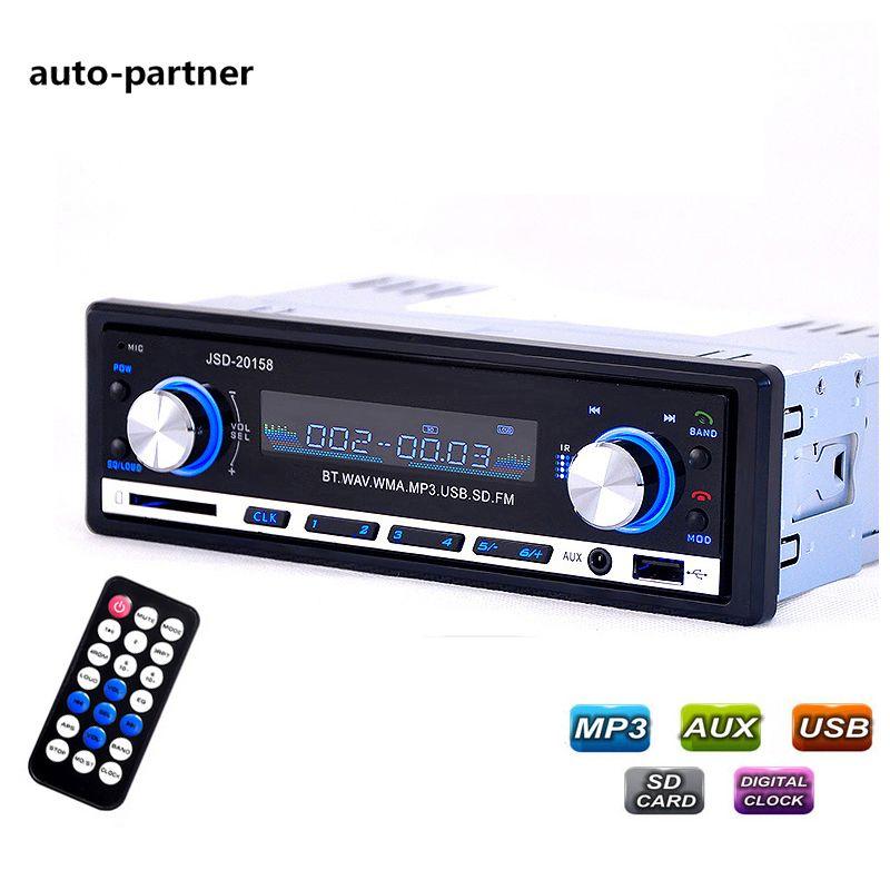 Voiture Radio Bluetooth V2.0 Autoradio JSD 20158 Voiture Audio Stéréo Au tableau de bord FM Récepteur Entrée Aux Récepteur USB MP3 MMC WMA Radio