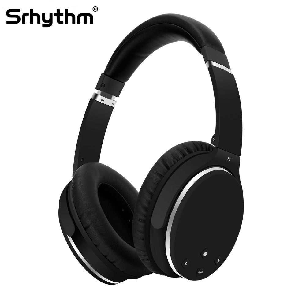 ANC Active Noise Cancelling Headphones Hifi Bluetooth Wireless Over Ear Earphones Foldable deep <font><b>bass</b></font> Headset with microphone