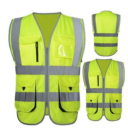 SFvest Haute visibilité gilet de sécurité réfléchissant gilet réfléchissant multi poches de sécurité vêtements de travail gilet livraison gratuite