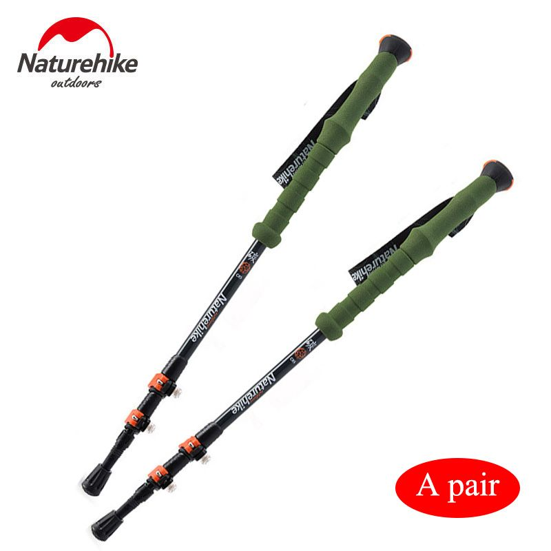 POINT BREAK NH80A089-Z Two pieces Outdoor Professional Climbing Staff Adjustable Walking Sticks Trekking Pole Alpenstock Canes