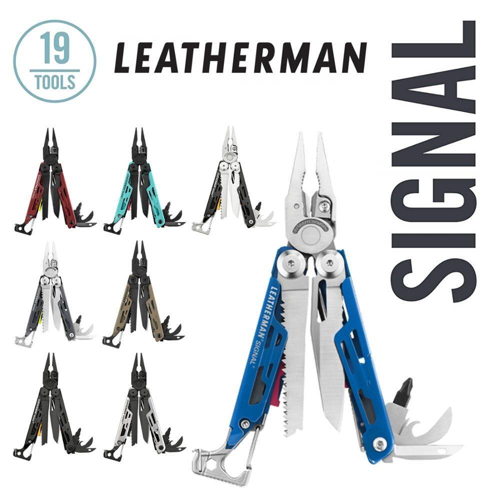LEATHERMAN-SIGNAL Camping Multitool mit Feuer Starter, Hammer, und Notfall Pfeife-8 Farben