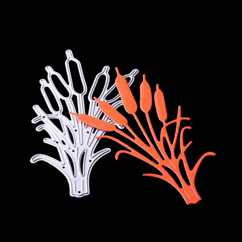 Metall Carbon Stahl Schöne Typha Gras Präge Schneiden Stirbt Schablonen Vorlagen Form für DIY Scrapbooking Album Papier Karte