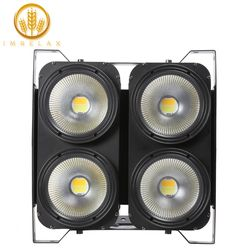Imrelax Daya Tinggi 4*100 W LED COB Pemirsa Blinder Lampu Putih DMX 4 Mata 100 W LED lampu PAR