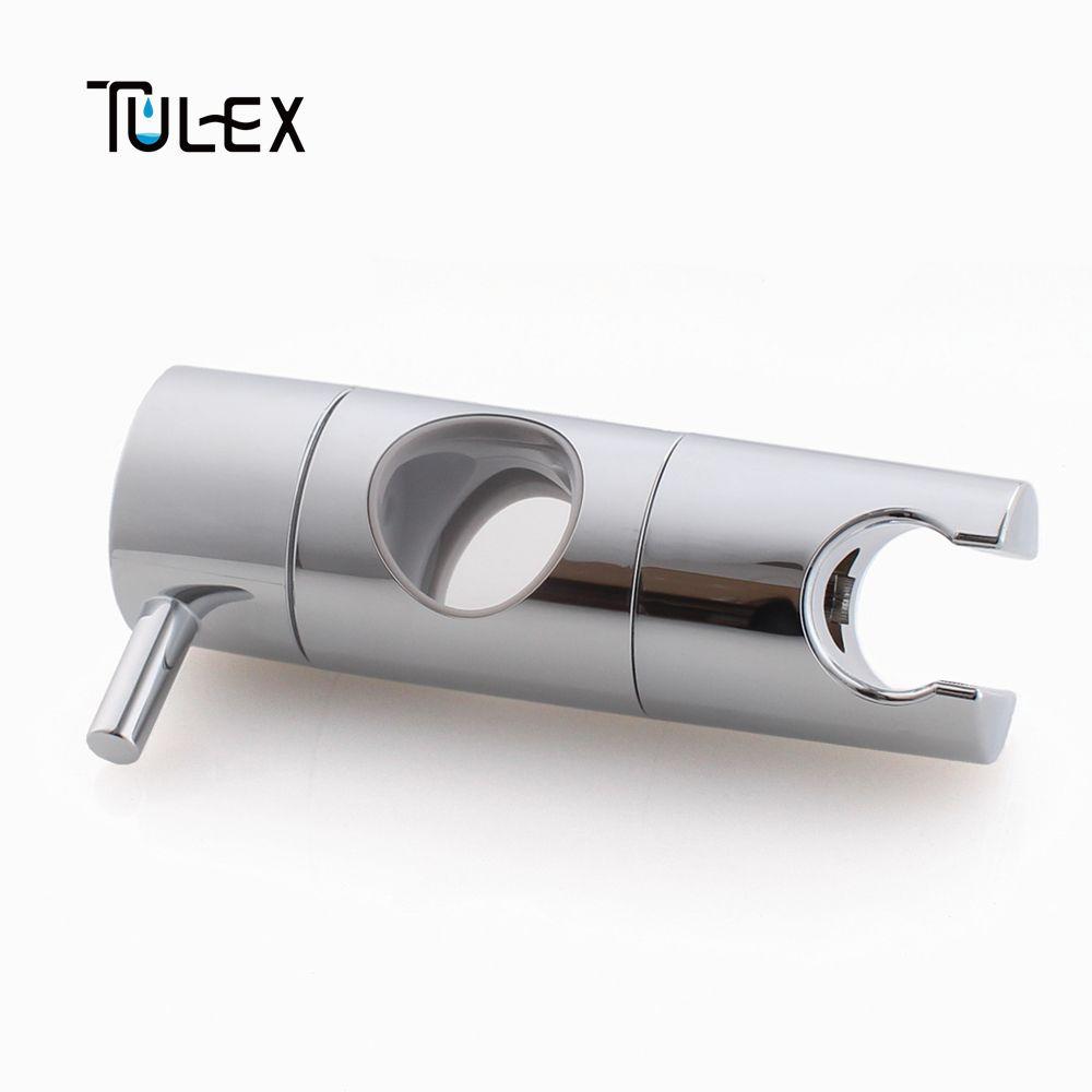 TULEX Douche À Main Support de Tête pour 19-25mm Curseur Bar Hauteur et Angle Réglable Pulvérisateur Titulaire De Douche tige Remplacement
