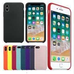Tener LOGO funda de silicona Original para iphone 7 8 para Apple iphone 6 7 8 más contraportada para iphone X 5 5S caso caja al por menor
