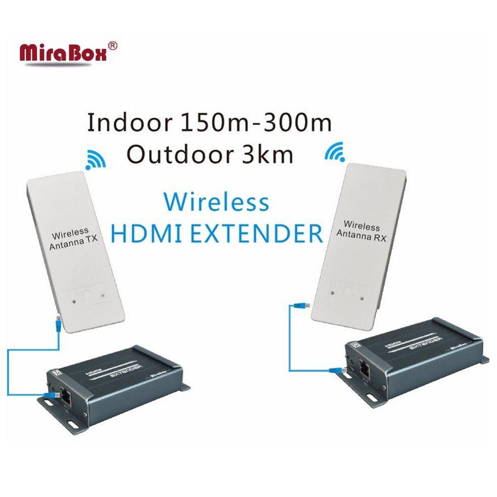 HDMI Extender Wireless HD Video/Audio Signal Übertragung HDMI wireless Extender HD empfänger und sender 1080 p Bis zu 3 km
