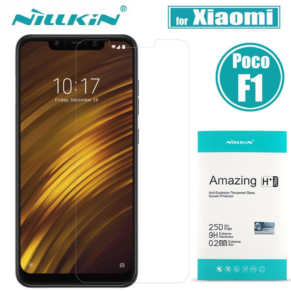 Xiaomi Pocophone F1 verre trempé POCO F1 protecteur d'écran Nillkin 9 H clair étonnant H & H + Pro Film de protection pour Xiaomi POCO F1