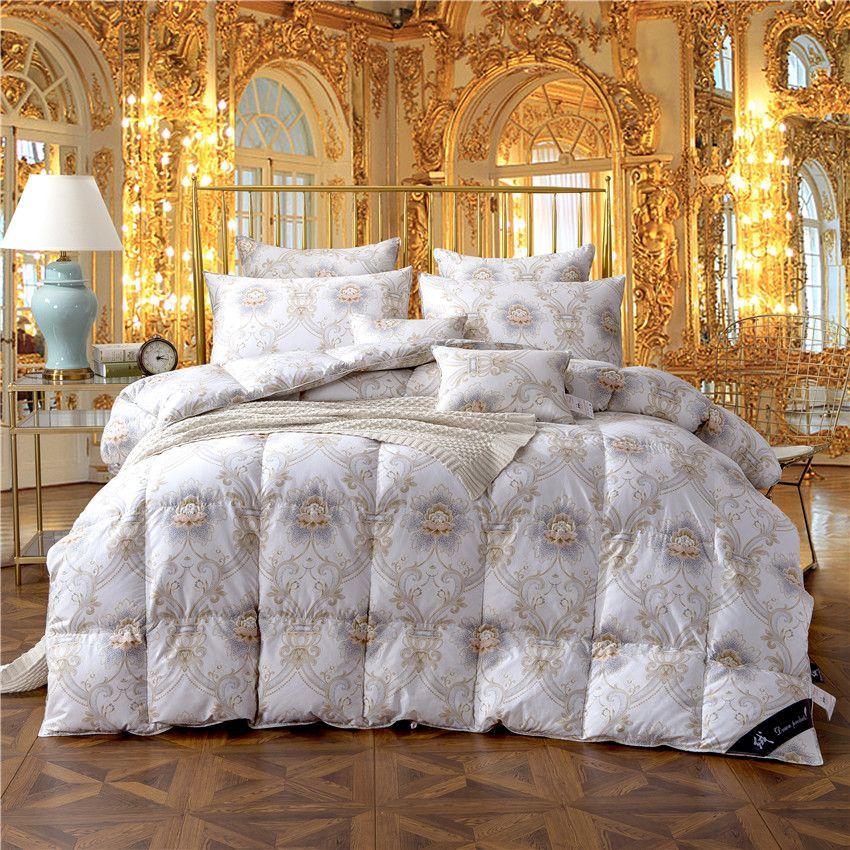 König Königin Twin größe 100% Gans Unten Tröster Bettwäsche Füllstoff sets Bettdecke Decke Quilt für Kinder Erwachsene