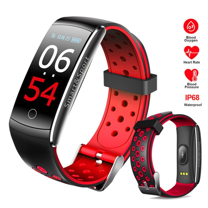 IP68 Swim Color Touch Smart Watch HR/BP/O2 Smart Wristbands Monitor Fitness Bracelet For IOS/Xiaomi/Honor PK Mi Band 3/Fit Bit 3