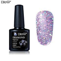 Elite99 10 ML Diamant Ongles Glitter Gel LED UV Gel Manucure brillant Paillettes Soak Off Gel Vernis À Ongles Vernis Semi Permanent Gellak