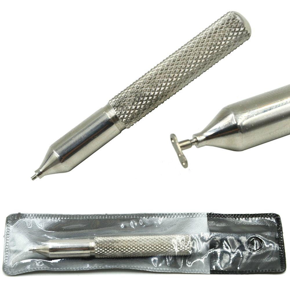 Outil conique d'insertion d'ancre cutanée de poignée en acier de Premier plan professionnel pour les bijoux de perçage de corps filetés intérieurement de 16g