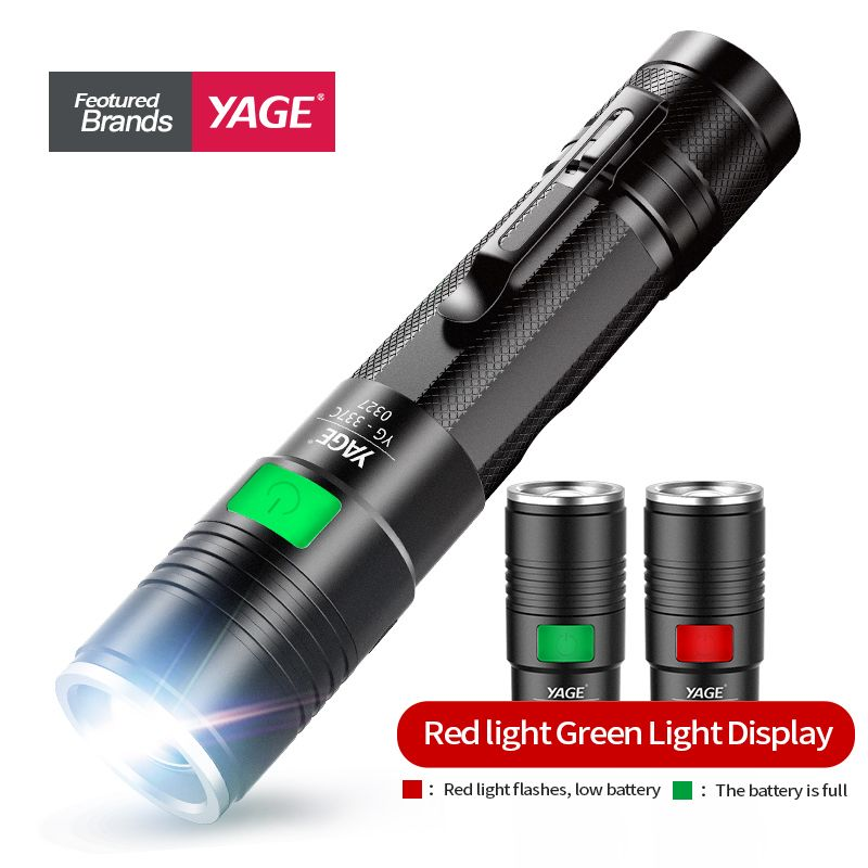 LED Aluminium Zoomables Lampe de Poche YGAE CREE Q5 Linterna Torche USB 18650 Militaires Tactiques Puissant LED Lampe de Poche Camping Lampe