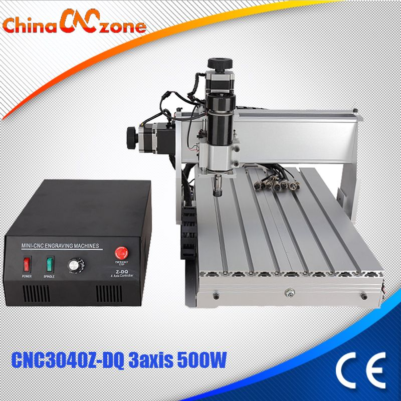 CNC 3040 Z-DQ 3-axis CNC Router Engraver Ball Screw Cutting Milling Drilling Engraving Machine Mini CNC 3040 500W Manufacturer