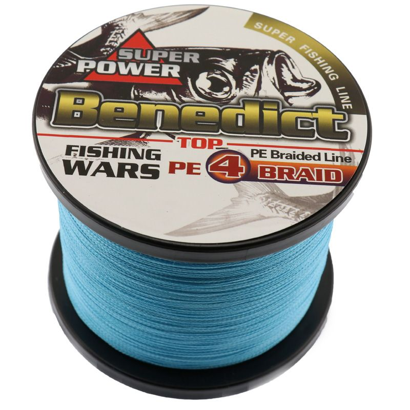 fishing tool super strong 1000M braided wires 100% pe fiber fishing line spectra Blue 4 strands sea fishing online fishing store