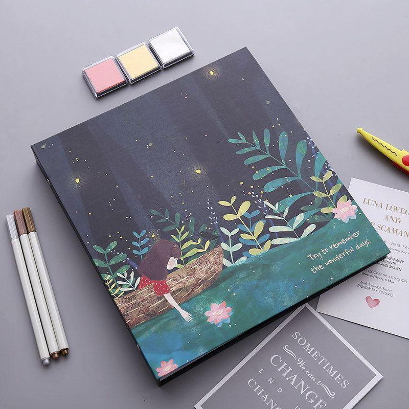 2018 new Photo album diy manual creative film cover album pasting lovers gifts romantic photo album