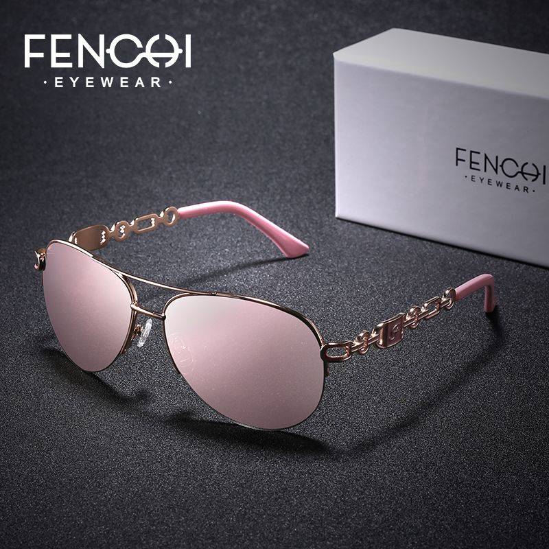 FENCHI Brand Sunglasses Women Mirror Fashion Pink Classic Female Sun Glasses For 2019 Outdoor Eyewear UV 400 gafas de sol mujer
