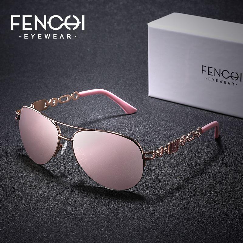FENCHI marque lunettes de soleil femmes miroir mode rose classique femme lunettes de soleil pour 2019 lunettes extérieures UV400 gafas de sol mujer