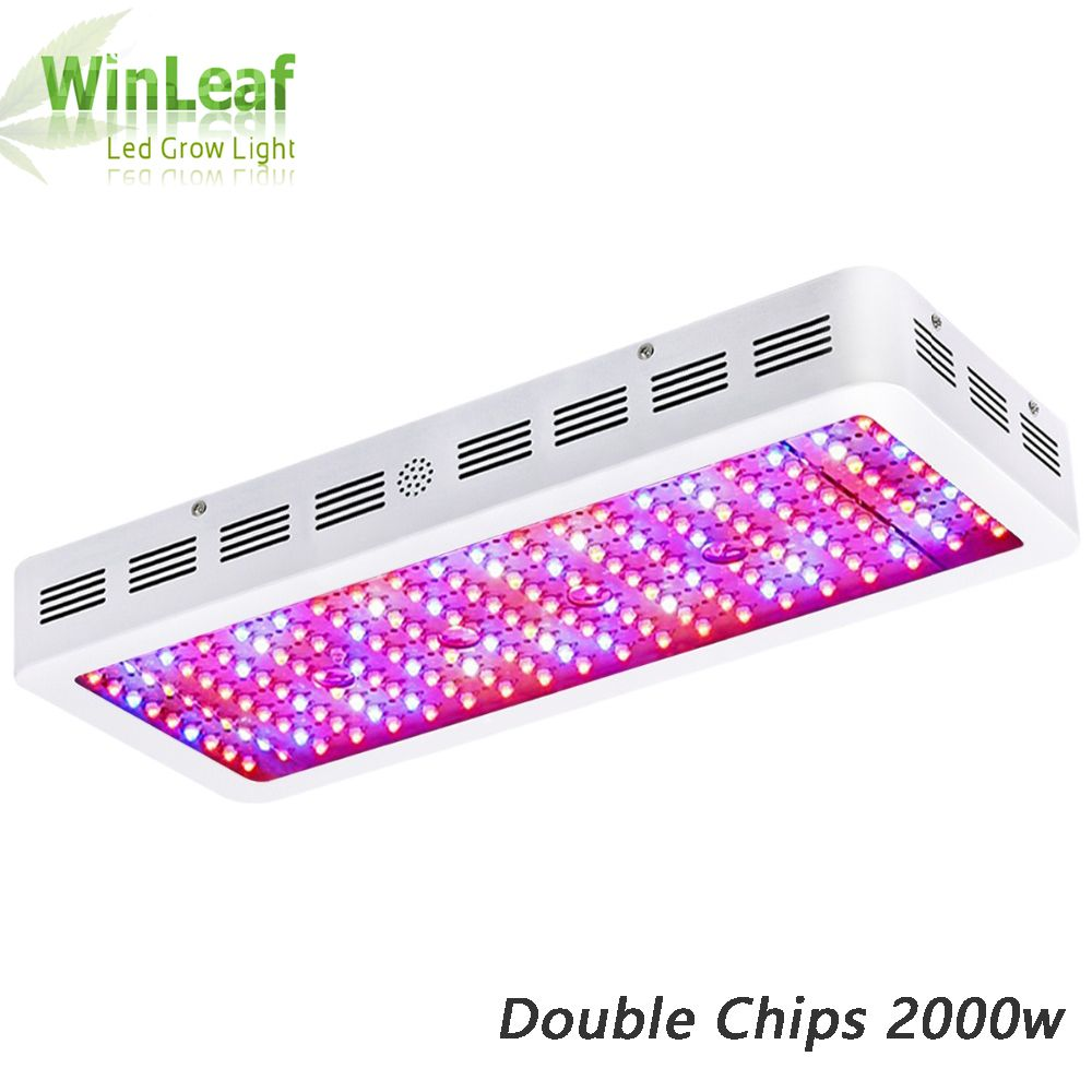 LED grow light Full Spectrum bestva Double Chips 2000W white plant grow lamp for greenhouse tent hydroponic Bloom High yield