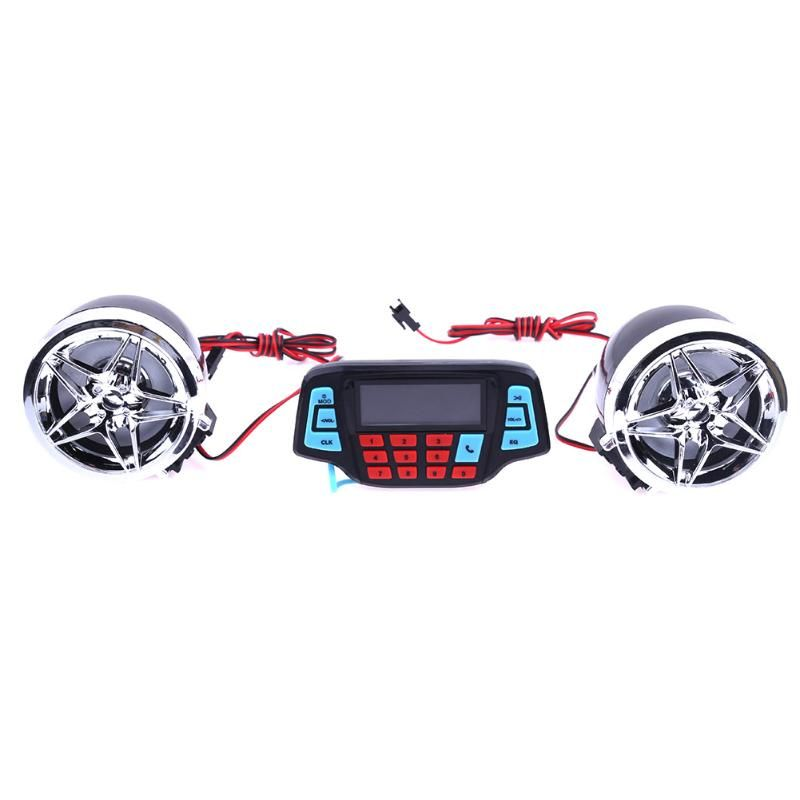Motorcycle Alarm Audio Sound System Stereo Speakers FM Radio MP3 Music <font><b>Player</b></font> Scooter ATV Remote Control Alarm Speaker Scooter
