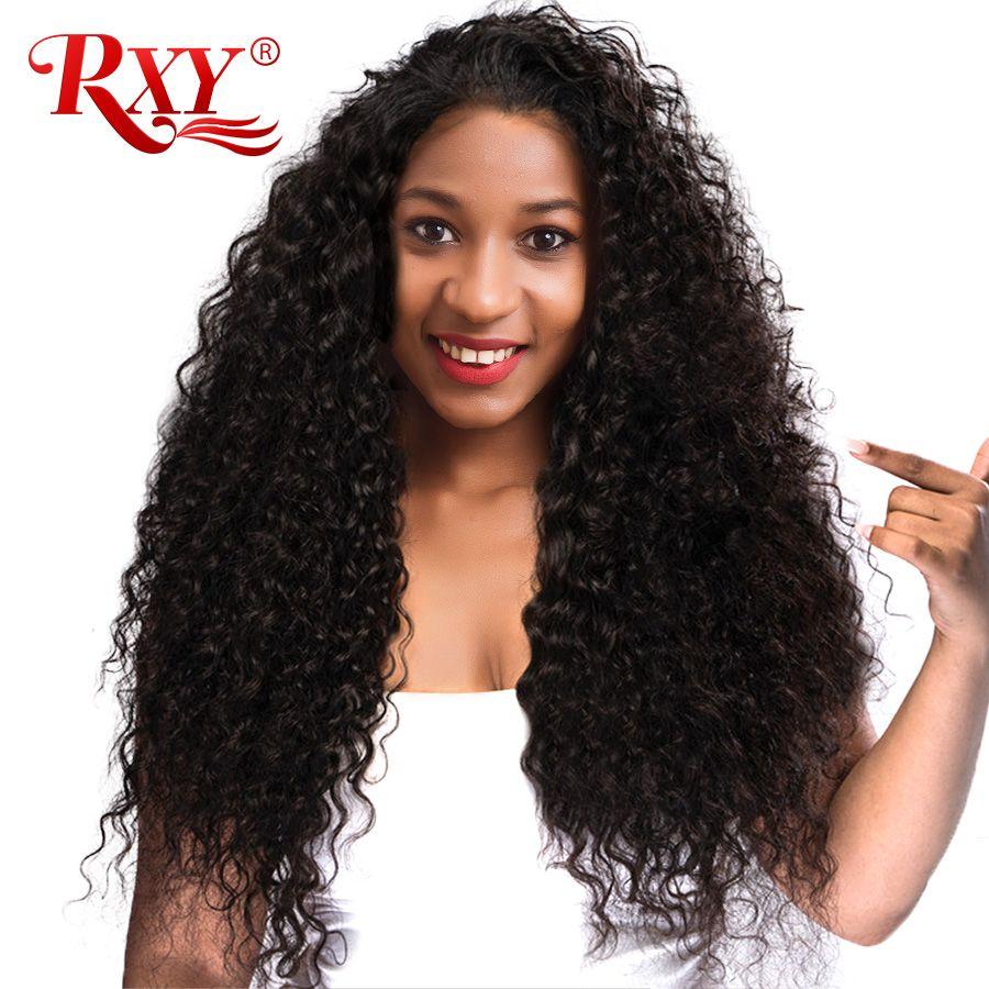 Rxy Glueless Синтетические волосы на кружеве Человеческие волосы Искусственные парики для черный Для женщин кудрявый парик с волосами младенца ...