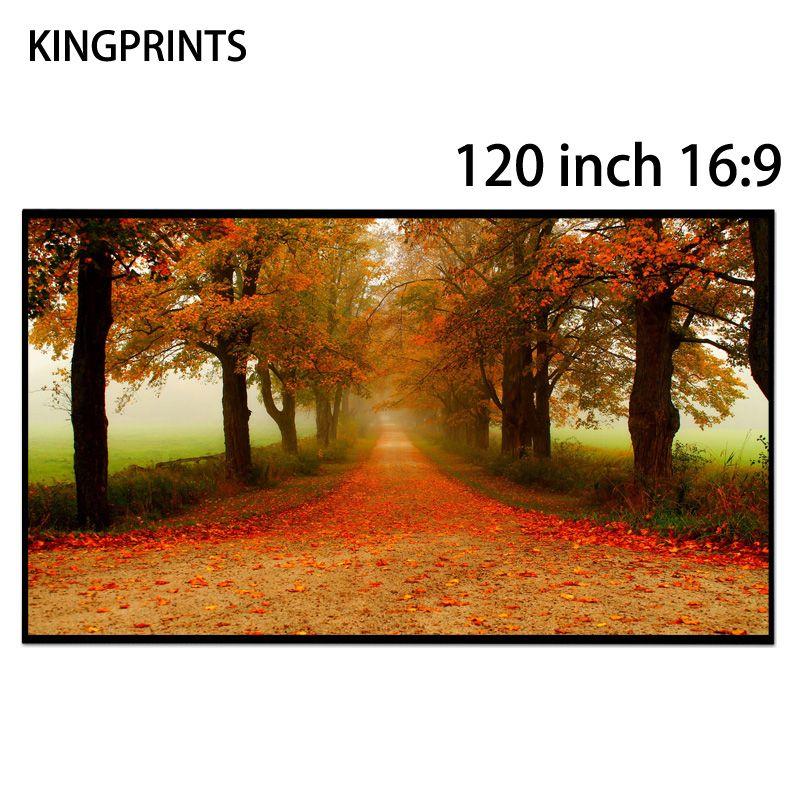 120-zoll-bildschirm 16:9 Projektor Bildschirme Freies Rand Schwarz Kristall Absorbiert Umgebungslicht ALR Bildschirm Für Xgimi 3D 4 Karat Projektor