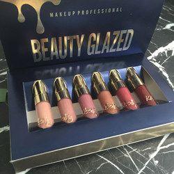 Belleza esmaltado 6 mini mate lipgloss líquido mujeres Rouge a levre edición LIP set fácil de usar lápiz labial taza antiadherente brillo labial mate