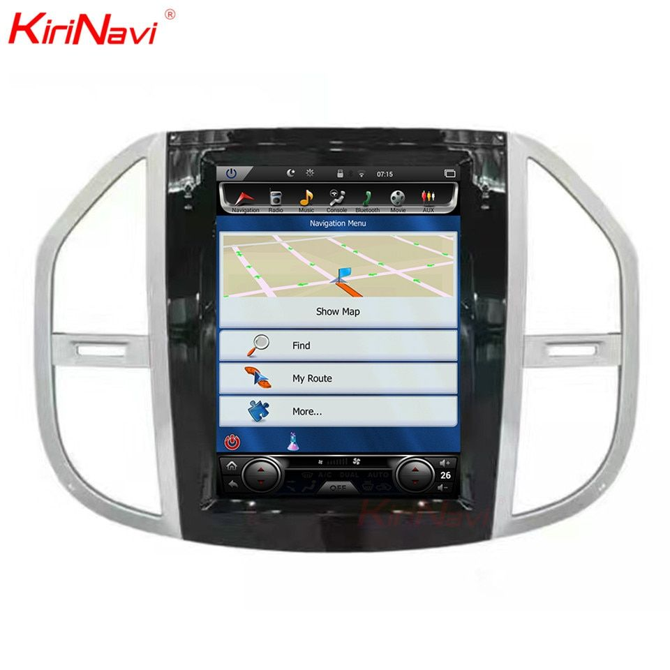 KiriNavi Vertical Screen Tesla Style Android 6.0 12.1 Inch Car Radio Dvd For Mercedes Vito 2 Din Gps Navigation Multimedia 64g