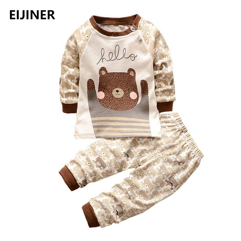 2018 nouveau coton automne bébé vêtements ensembles enfants garçons costumes mignons bébés hauts + pantalons 2 pièces ensemble bébé fille vêtements