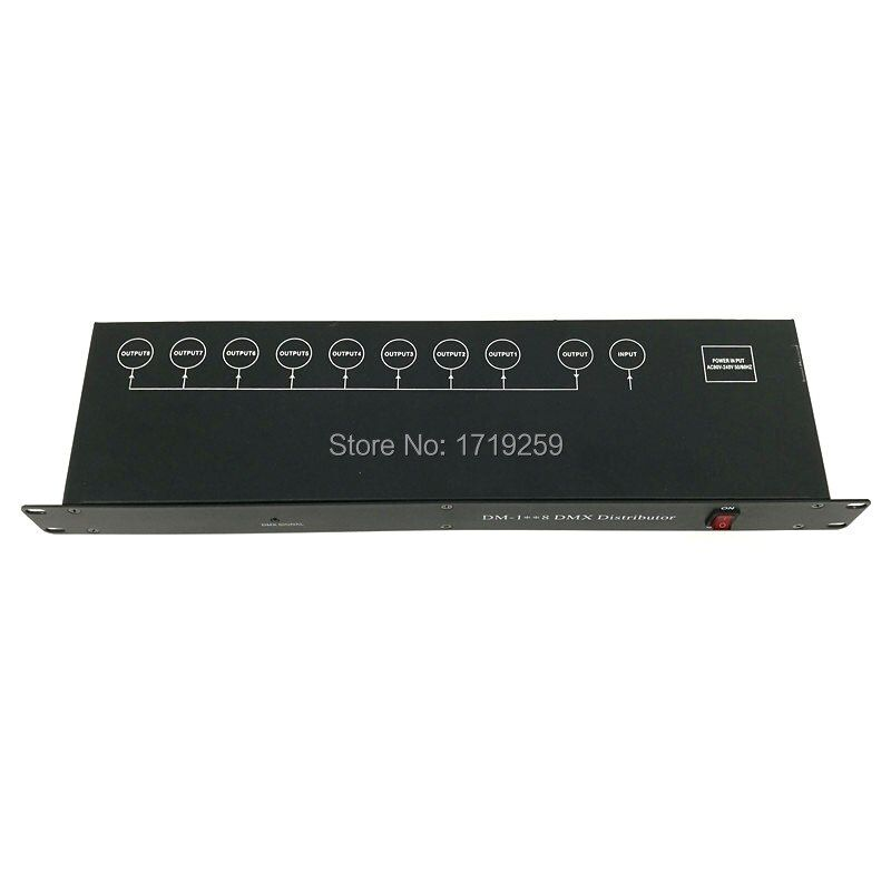 Свет этапа контроллер DMX512 сплиттер световой сигнал Усилители домашние Splitter 8 Путь DMX Дистрибьютор для концертного оборудования