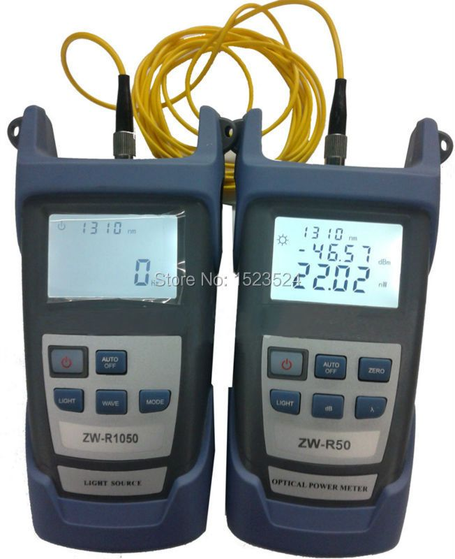 Fiber Optique Multimètre-50 ~ + 26dBm De Poche Fiber De Puissance Optique + Fiber Optique Lumière Source 1310/1550nm