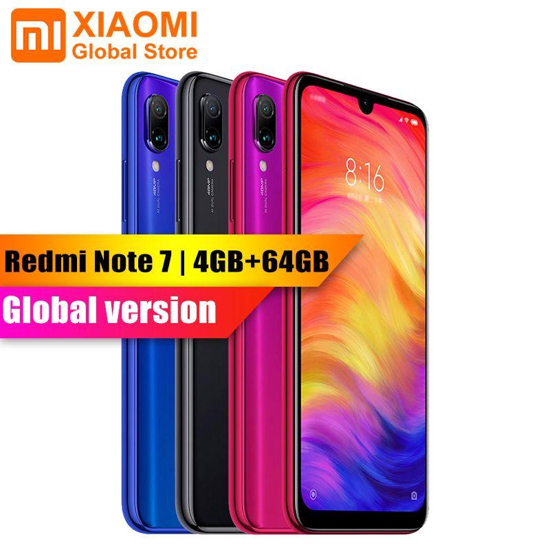 Version mondiale-XIAOMI Redmi Note 7 4 GB RAM 64 GB ROM S660 Octa Core 6.3 Smartphone 2340x1080 4000 mAh 48MP + 13MP caméra