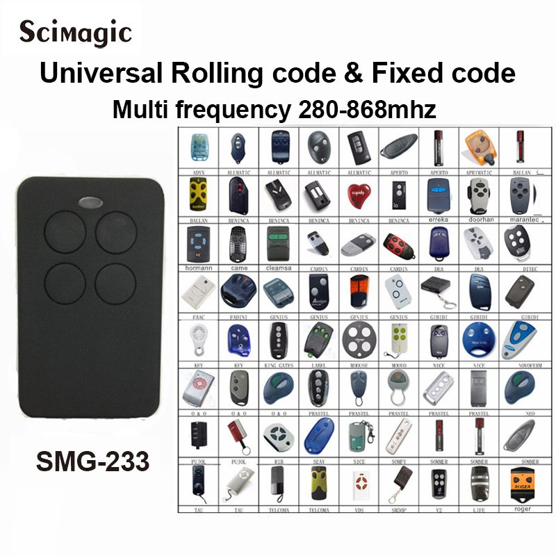 Auto-Scan 280mhz - 868mhz Multi Frequency brand rolling code remote control duplicator receiver gate control garage command