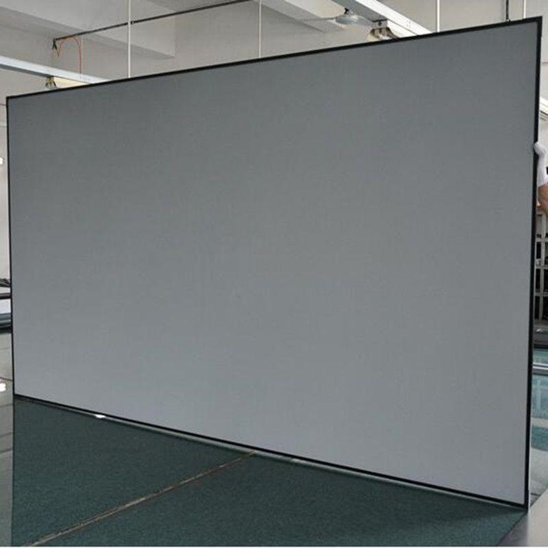 Diagonal 16:9 Umgebungs Licht Ablehnung Festen Rahmen Projektion Projektor Bildschirm für Ultra short throw projektoren