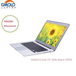13.3 pouces en aluminium Core I7 6e. génération ordinateur portable rétro-éclairé clavier 8 GB 128G/256 GB SSD USB 3.0 HDMI WIFI I7 notebook pc