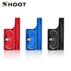 SHOOT Aluminum Snap Latch Back Door Clip Lock Buckle for GoPro Hero 3+ 4 Protective Waterproof Case for Gopro Hero 4 Accessories
