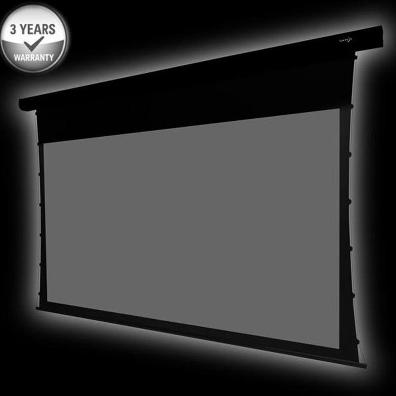 110'' Diagonal 16:9HDTV Home Cinema 4K Tab-Tension Motorized projection Screen with ALR Grey ambient light rejecting grey ATS110