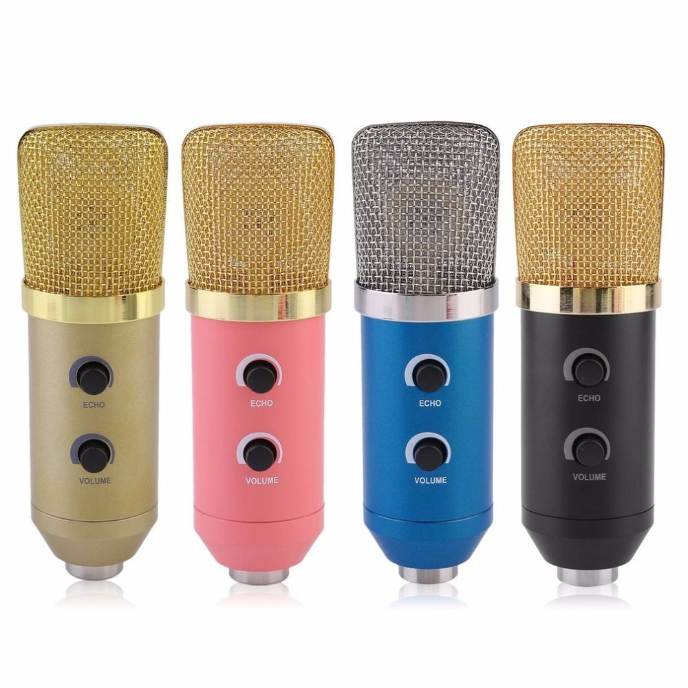 Professional MK-F100TL USB Condenser Microphone With Tripod for Video Recording Karaoke Radio Studio Microphone for Computer PC